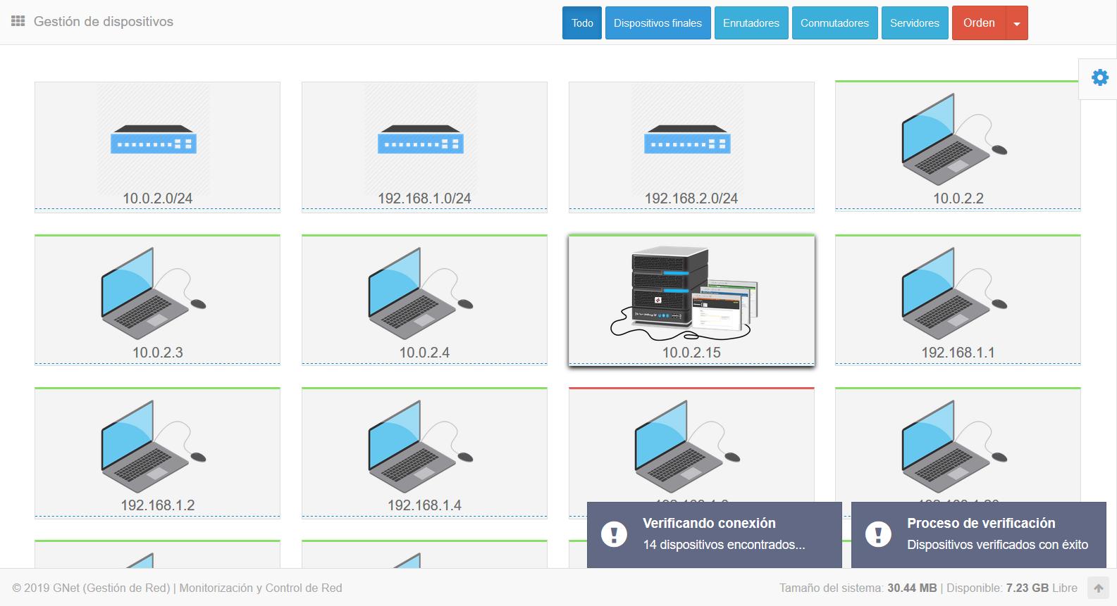 GNet - Monitorización ICMP